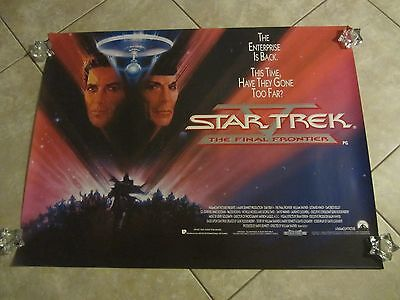 STAR TREK V movie poster LEONARD NIMOY, WILLIAM SHATNER