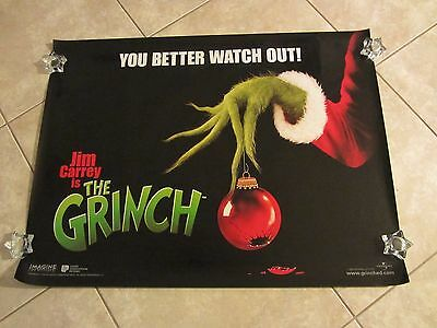 The Grinch movie poster - Jim Carrey, Dr Seuss