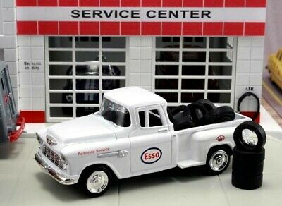 New In Box 1/43 1955 Chevrolet Stepside Pickup  AAA  Esso with 10 Tires