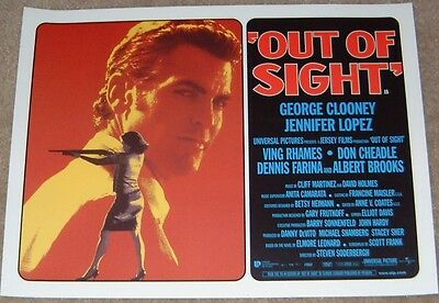 Out Of Sight movie poster print - George Clooney - 12 x 16 inches