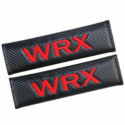 2 X Carbon Fiber WRX Car Seat Belt Cover Pads Shoulder Cushion New