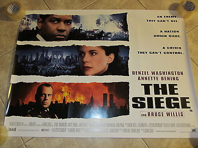 The Siege movie poster - Bruce Willis, Denzel Washington