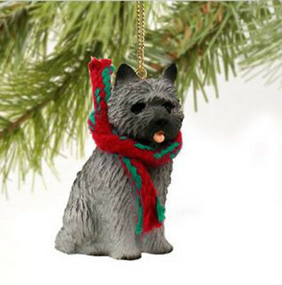 CAIRN TERRIER Gray DOG CHRISTMAS ORNAMENT HOLIDAY  Figurine gift Xmas pet