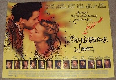 Shakespeare In Love movie poster print - Gwyneth Paltrow, Joseph Fiennes