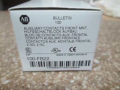 Allen Bradley Auxiliary Contact 100-FB22 (NEW)