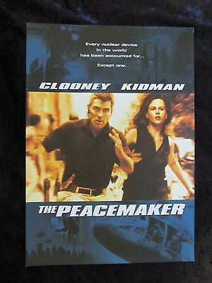 The Peacemaker british synopsis card - George Clooney, Nicole Kidman