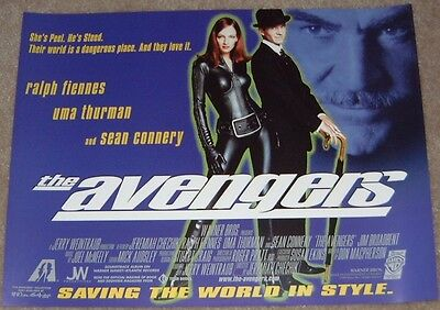 The Avengers movie poster print - Uma Thurman poster, Ralph Fiennes poster