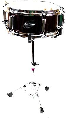 Ludwig Accent Junior Snare Drum, Stand and Drumsticks, Wine Red, 12 x 5""