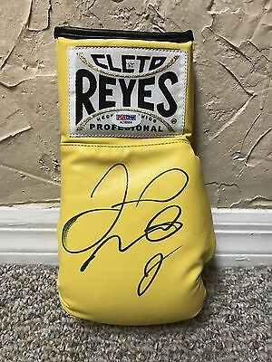 RARE FLOYD MAYWEATHER SIGNED YELLOW CLETO REYES BOXING GLOVE PSA PROOF Pacquiao