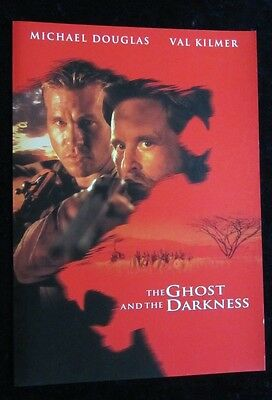 The Ghost & The Darkness UK fold out synopsis - Val Kilmer, Michael Douglas