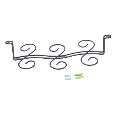 Wine Glass Rack Glass Cup Stemware Holder Shelf 6-Glass Wine Hanging Rack