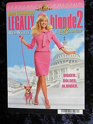 LEGALLY BLONDE 2 movie backer card REESE WITHERSPOON