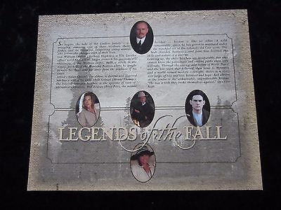 Legends Of The Fall synopsis card - Brad Pitt, Anthony Hopkins