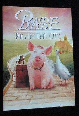 BABE PIG IN THE CITY british fold out synopsis/press book