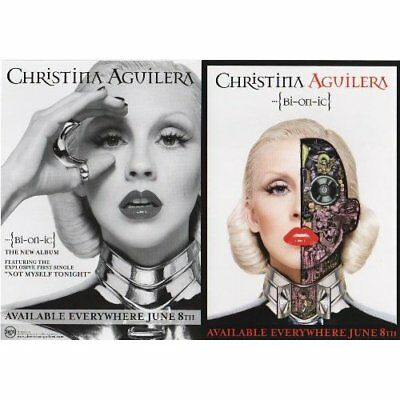 Christina Aguilera promo card  -  Bionic  - 5 x 7 inches