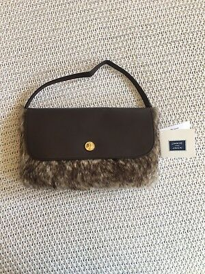 Janie and Jack Brown Faux Leather Fur Purse Bag NWT HTF Fall Winter