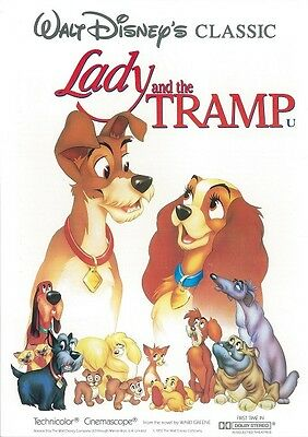 Walt Disney's Lady and the Tramp movie poster  - 12 x 18 inches