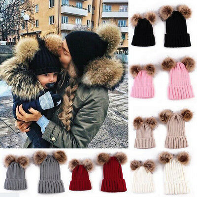 Baby Boy Beanie Winter Newborn 1 Pcs Cute Hat Cap Warm Double Fur Ball Mom Girls