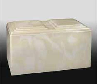 Creme Cultured Marble Companion Urn - ideal for burial