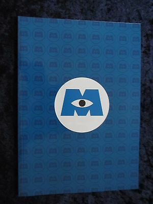 Disney and Pixar - Monsters Inc press book - 56 pages