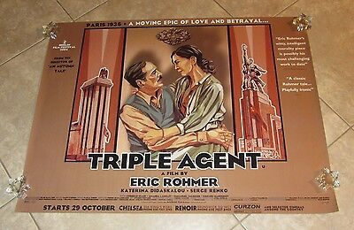 TRIPLE AGENT movie poster ERIC ROHMER original UK Quad Poster