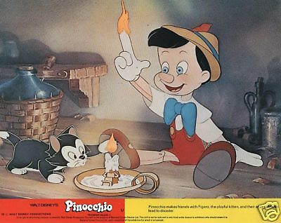 Disney's PINOCCHIO lobby cards - mini uk set of 8