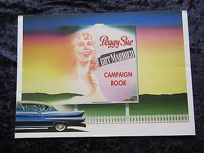PEGGY SUE GOT MARRIED british fold out synopsis card KATHLEEN TURNER