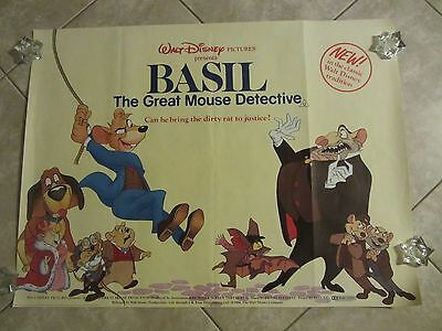 BASIL THE GREAT MOUSE DETECTIVE  movie poster WALT DISNEY (1986)