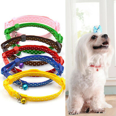 Pet Dog Cat Soft Reflective Puppy Collar Safey Buckle Strap Necklace With Bell