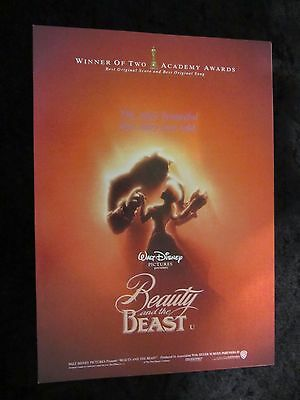 Beauty and the Beast british fold out synopsis sheet - Walt Disney