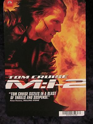Mission Impossible 2 - movie backer card - Tom Cruise