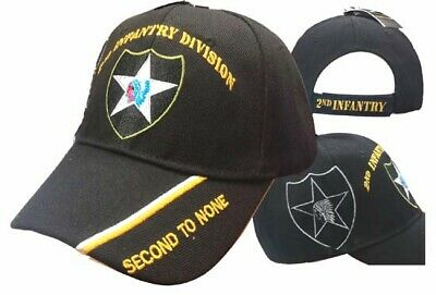 U.S. Army 2nd Second Infantry Division Black 3D Embroidered Cap CAP620 Hat