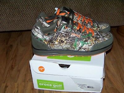 Crocs Hank Haney Mens Karlson Realtree Chocolate/Orange Golf Shoes Size 9.5