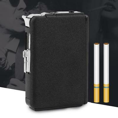 2in1 Metal Cigarette Case Box Holder Windproof Flame Fire Gas Refillable Lightef