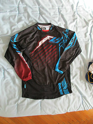 Maillot Motocross Fly Racing Kinetic Rs M marroon blue
