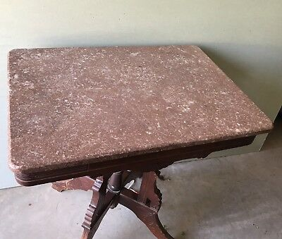 A Victorian Marble-Top Lamp Table Eastlake?