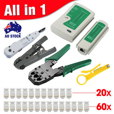 Network Ethernet LAN RJ11 RJ45 CAT5 CAT6 Cable Tester Wire Tracker Tool Kit