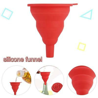 Small Silicone Collapsible Foldable Silicon Kitchen Funnel Hopper Gel Practicalc