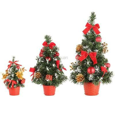 Cute Mini Christmas Tree Decor Desk Table Festival Party Ornament Xmas Gifts New