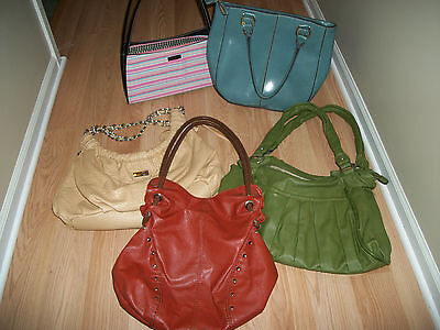 Purses Handbags Lot Of (5) Elle Victor Relic Mondani Random Colors Nice Bags
