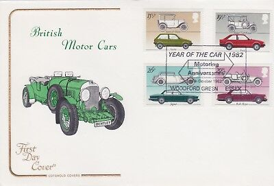 Stamps Gb 1982 Cars Woodford Green First Day Cover From Cotswold Collection