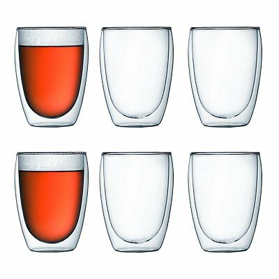 Bodum PAVINA Double Walled Thermo Glasses, 0.35 L, 12 oz, Set of 6