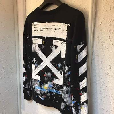 Off White C/O Virgil Abloh Sweater Galaxy Pullover Sweatshirt Coat S-XL