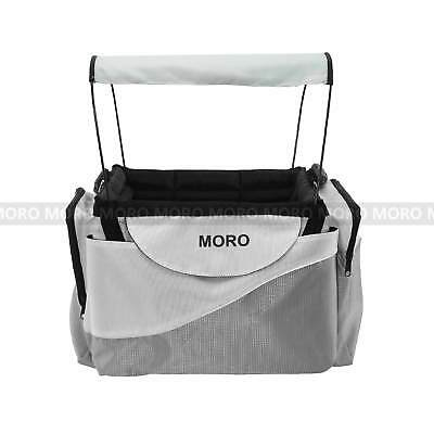 Pet Travel Shopping Bag Bicycle Front Basket Cat Dog Puppy Bike Carrier+Roof