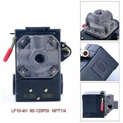 Air Compressor Pressure Switch Control 95-125 PSI 4 Port Unloader Lefoo