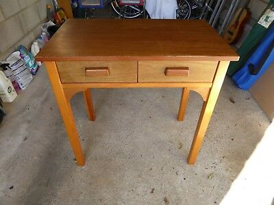 Solid wood student work desk with draws (craftsman built)