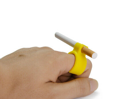 Silicone Ring Finger Hand Rack Cigarette Holder For Regular Smoking Smoker 8mm