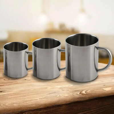 220/300/400ml Stainless Steel Double Wall Travel Mug Camping Drinking Coffee Cup