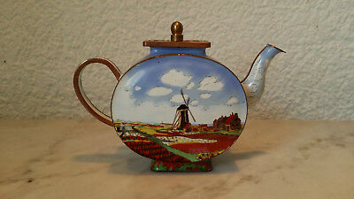 kleine Emaillekanne Windmühle Goebel Trade Plus Aid hand painted Claude Monet