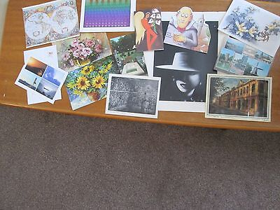 Collection of 14 Postcards Greetings Birthday Cards Print World Map